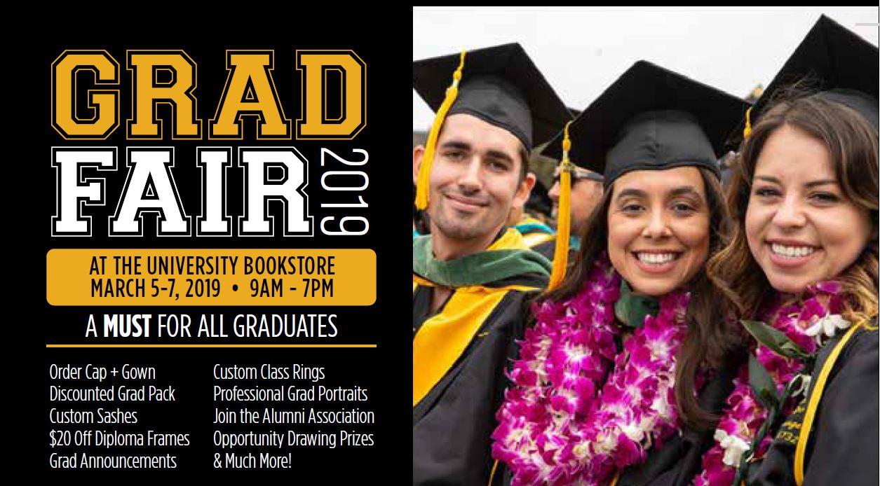 386ab3e8626 SP19 Grad Fair Screen. Pre-order your cap   gown!
